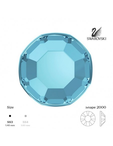 Swarovski® 2000 Aquamarine SS3 (1,35-1,50mm)