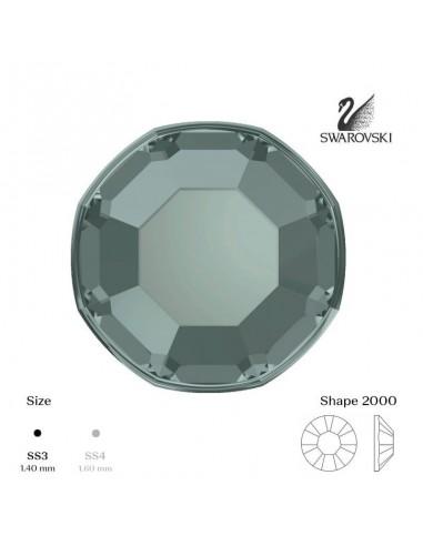 Swarovski® 2000 Black Diamond SS3 (1,35-1,50mm)