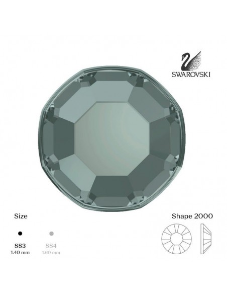 Swarovski® 2000 Black Diamond SS3 (1,35-1,50mm)
