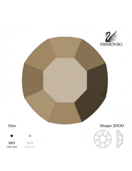 Swarovski® 2000 Metallic Gold SS3 (1,35-1,50mm)