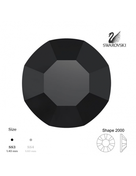 Swarovski® 2000 Jet SS3 (1,35-1,50mm)