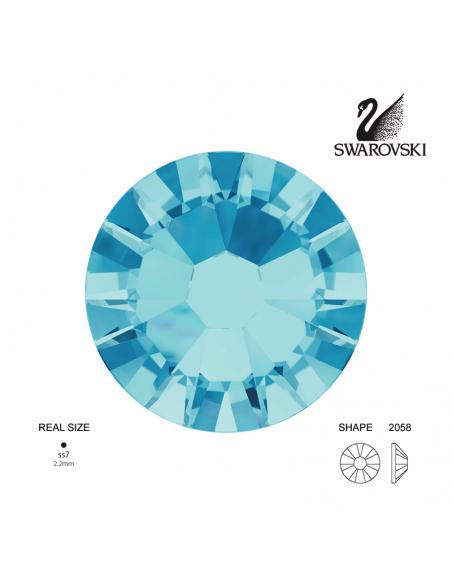 Swarovski® 2058 Aquamarine SS7 (2.10-2.30mm)