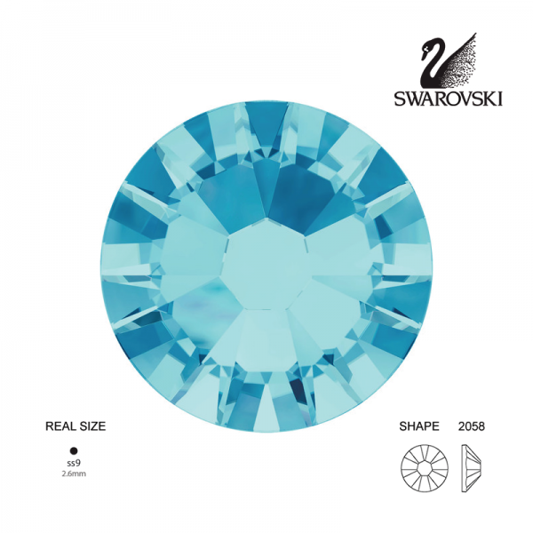 Swarovski® 2058 Aquamarine SS9 (2.50-2.70mm)