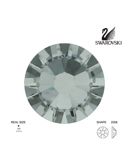 Swarovski® 2058 Black Diamond SS6 (1.90-2.00mm)