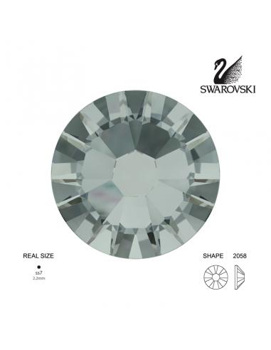 Swarovski® 2058 Black Diamond SS7 (2.10-2.30mm)