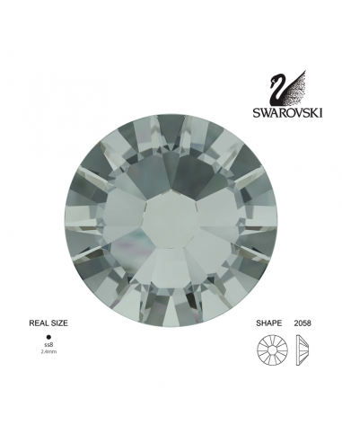Swarovski® 2058 Black Diamond SS9 (2.50-2.70mm)