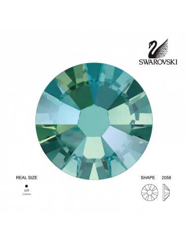 Swarovski® 2058 Black Diamond Shimmer SS9 (2.50-2.70mm)