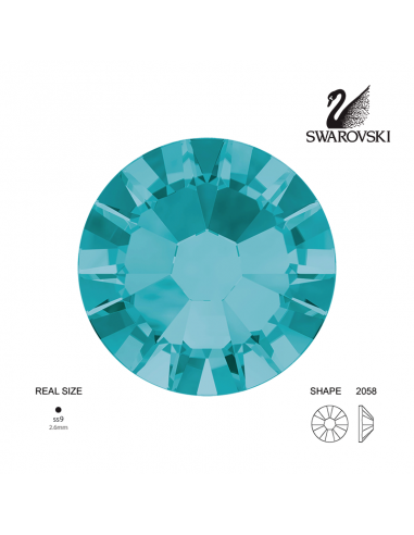 Swarovski® 2058 Blue Zircon SS9 (2.50-2.70mm)
