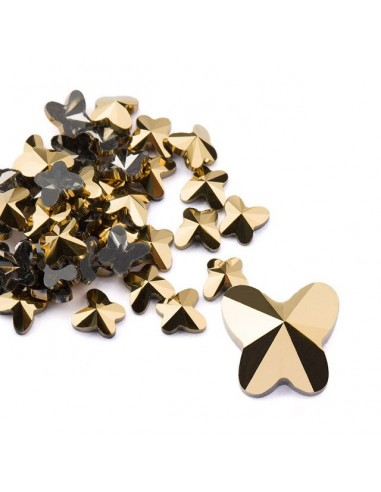 Crystal Butterfly Metallic Gold 5x5mm