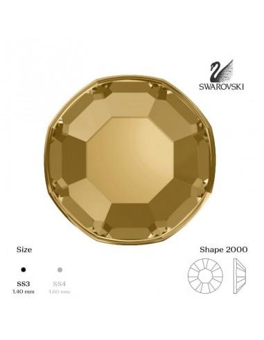Swarovski® 2000 Light Colorado Topaz SS3 (1,35-1,50mm)