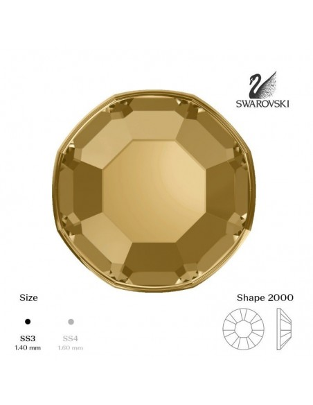 Swarovski® 2000 Light Colorado Topaz SS3 (1,35-1,50mm)