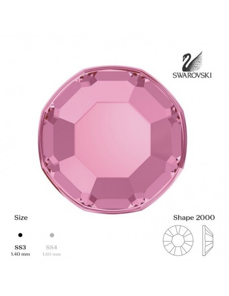 Swarovski® 2000 Light Rose SS3 (1