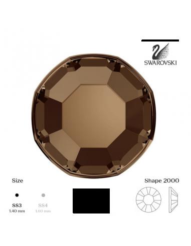 Swarovski® 2000 Smoked Topaz SS3 (1,35-1,50mm)